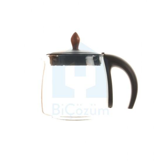 Arzum Çaycı Klasik Cam Demlik Grubu - Siyah - AR300302
