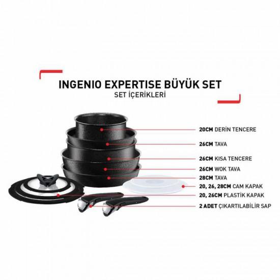 Tefal Titanium Ingenio Expertise Büyük Set - 2100103640